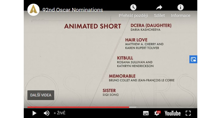 STUDENT FILM DAUGHTER TO COMPETE FOR THE PRESTIGIOUS ACADEMY AWARD – THE OSCAR